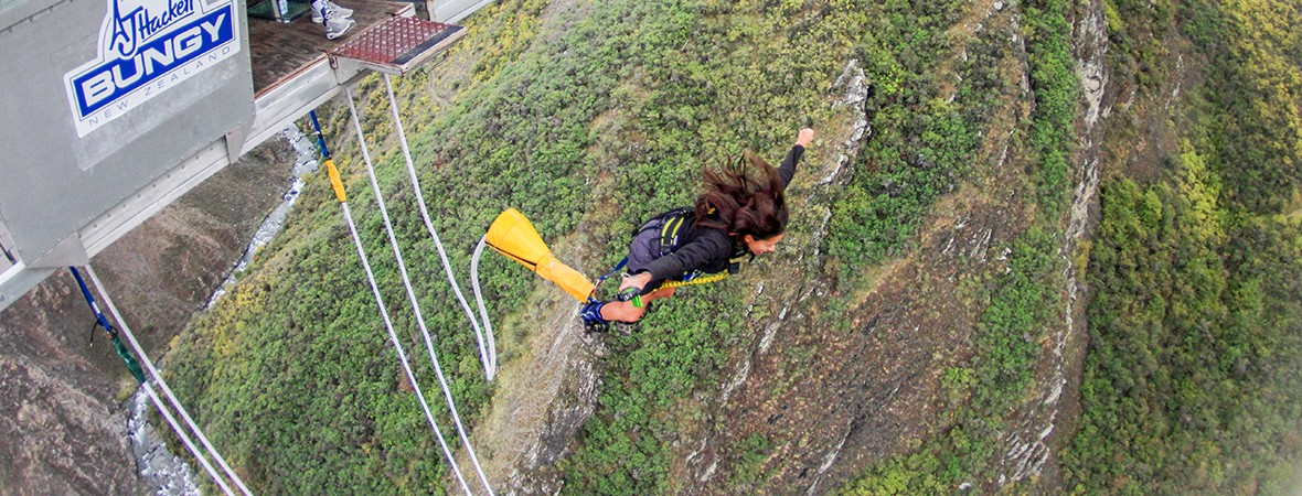 Jumping the 134m Nevis Bungy in New Zealand