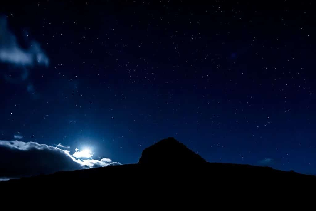 The night sky over Exmoor National Park