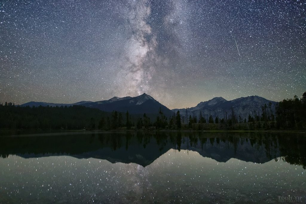 dark sky reserves: Stanley Lake in the Central Idaho Dark Sky Reserve