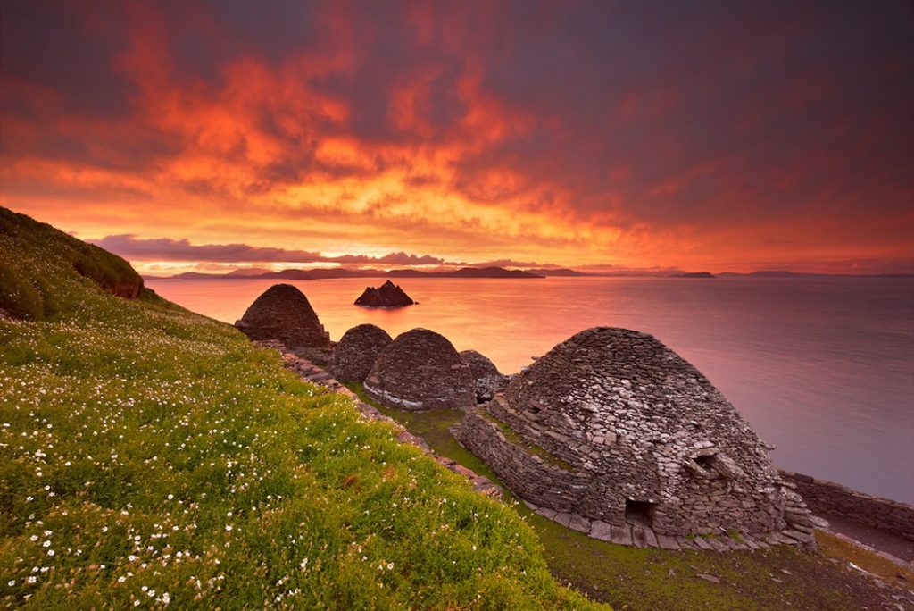 The Skellig Islands at twilights, dark sky reserves