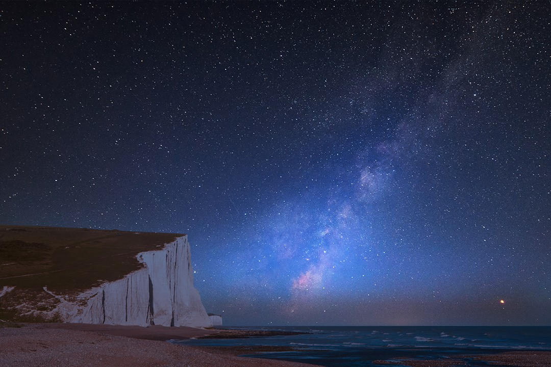 Stars shine over the South Downs