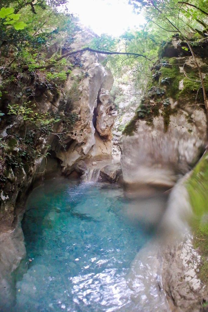 Hell's Canyon in Catalonia Barranc de l'Infern pool
