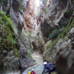 Starting Hell's Canyon in Catalonia Barranc de l'Infern