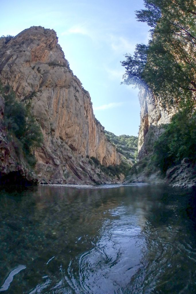 Out on to the river from Hell's Canyon in Catalonia