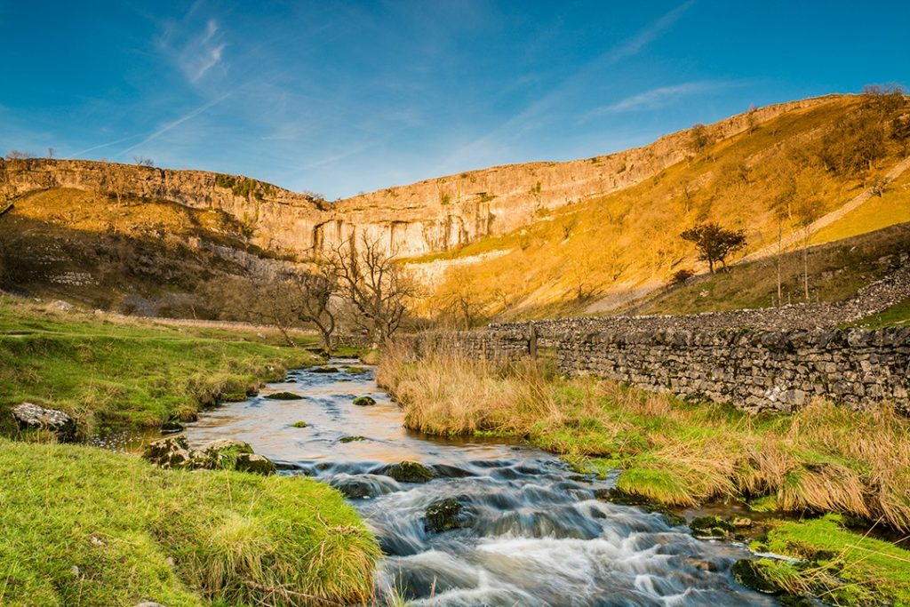 Malham Cove Beck is one of the most popular hiking trails in England