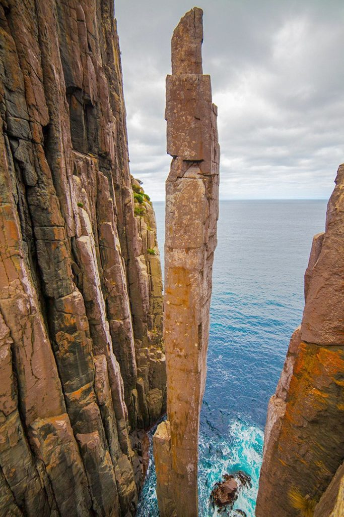 The imposing Totem Pole in Tasmania, Australia, is featured in a great long read on outdoor survival