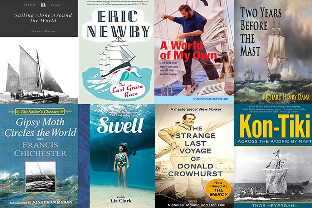 montage of best sailing books