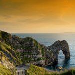 Natural arch of Durdle Door. natural wonders in the uk