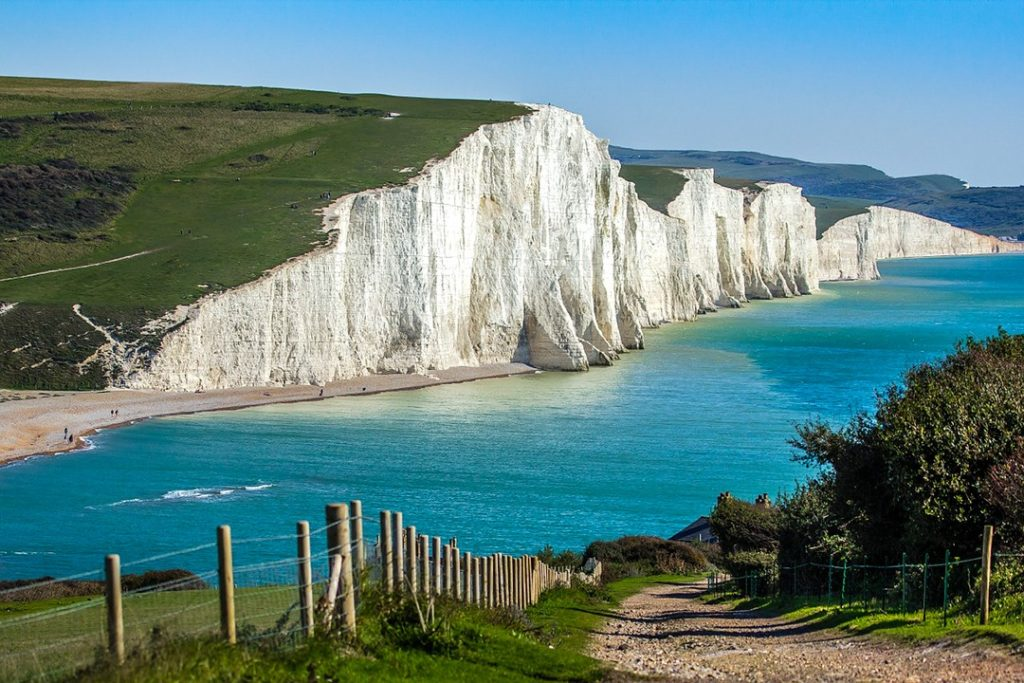 Seven Sisters are often used as a stand-in for the White Cliffs of Dover