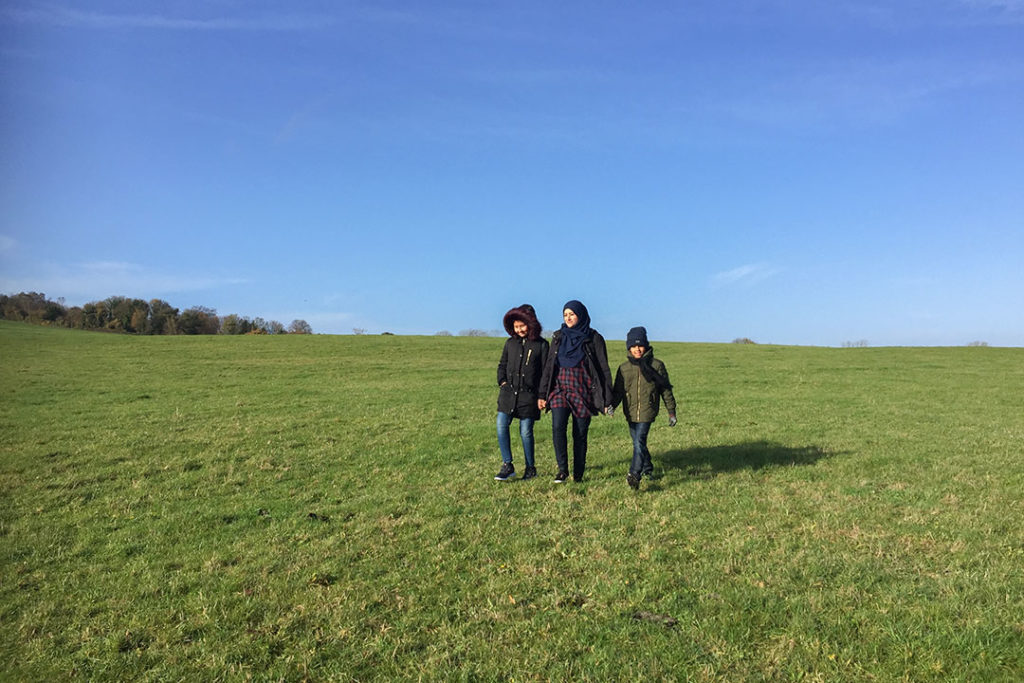 Taking a walk in the Chiltern Hills