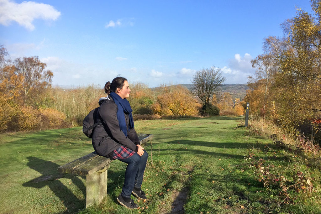 A moment of reflection in the Chiltern Hills