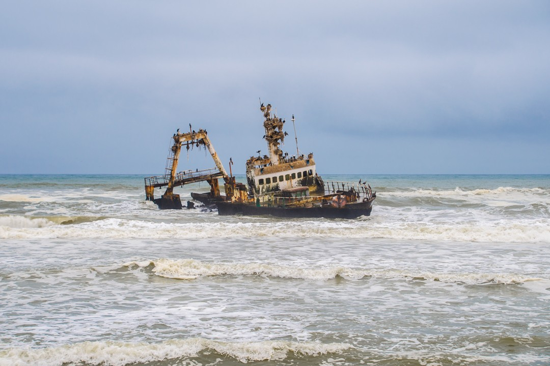 The shipwreck of the Zeila on the Skeleton Coast