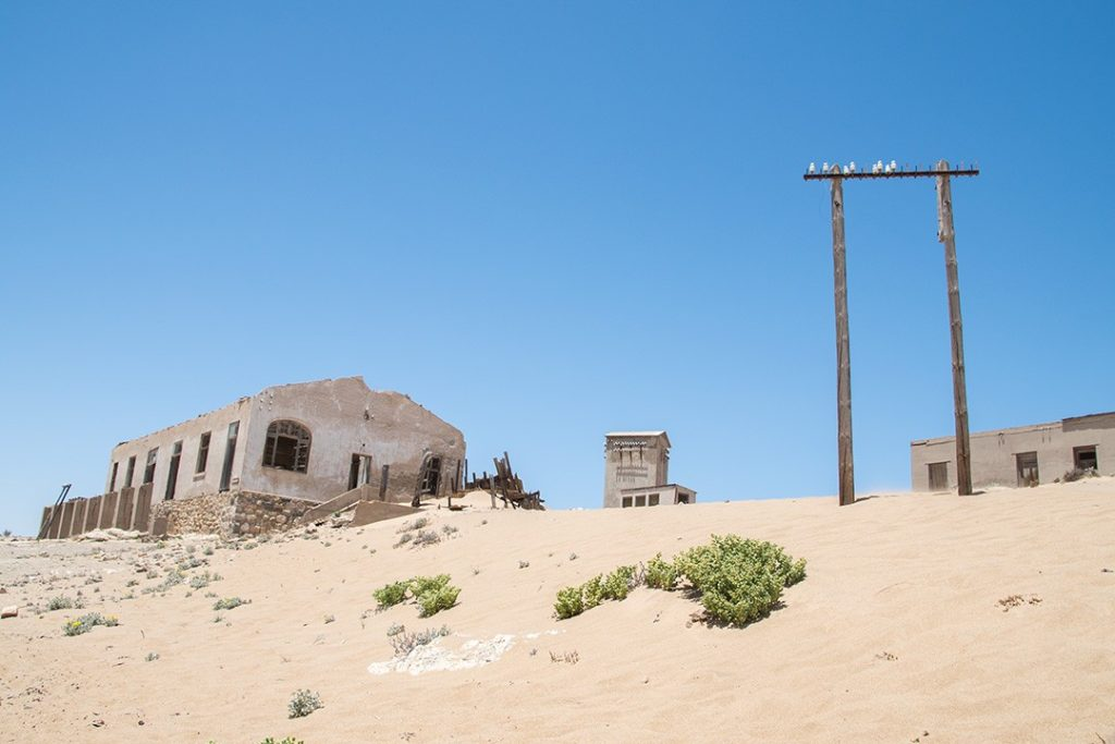 Scant signs of life in Kolmanskop ghost town