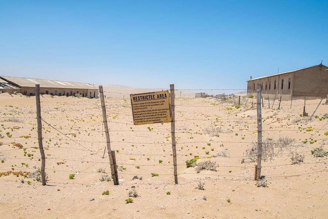 restricted area at kolmanskop