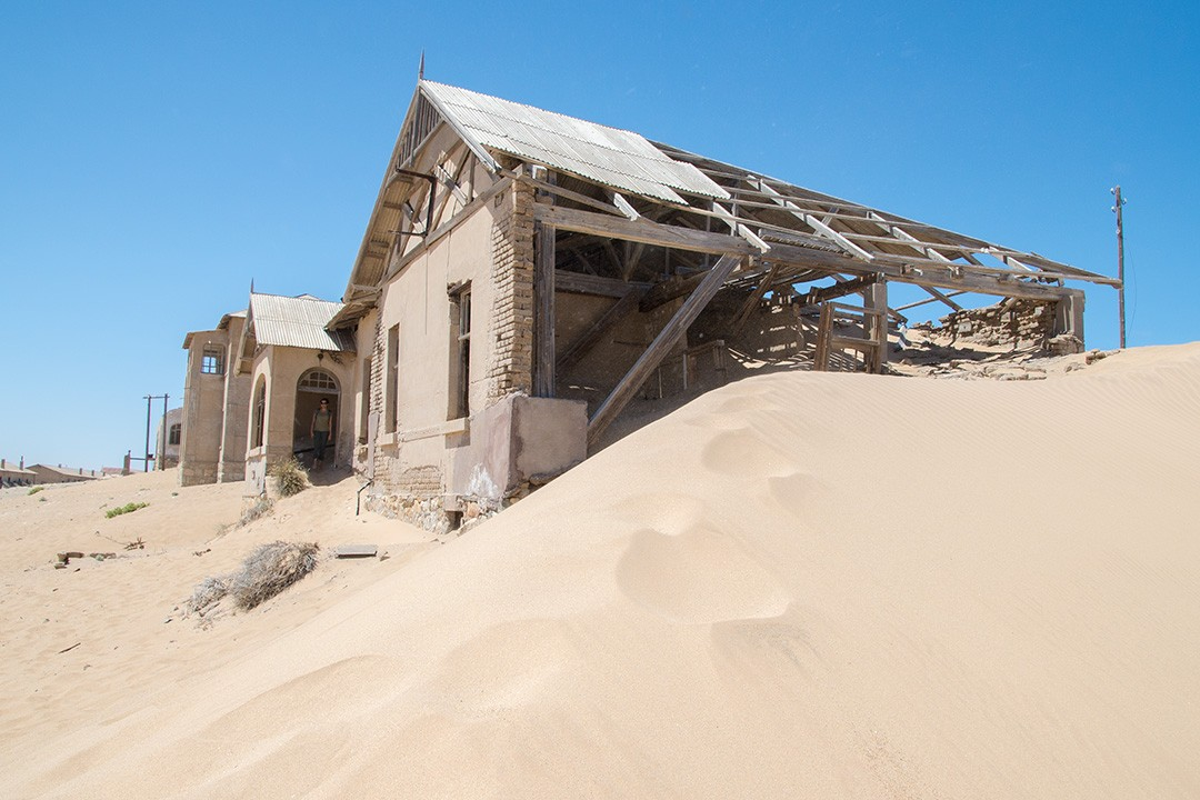 Swallowed by sand in Kolmanskop ghost town