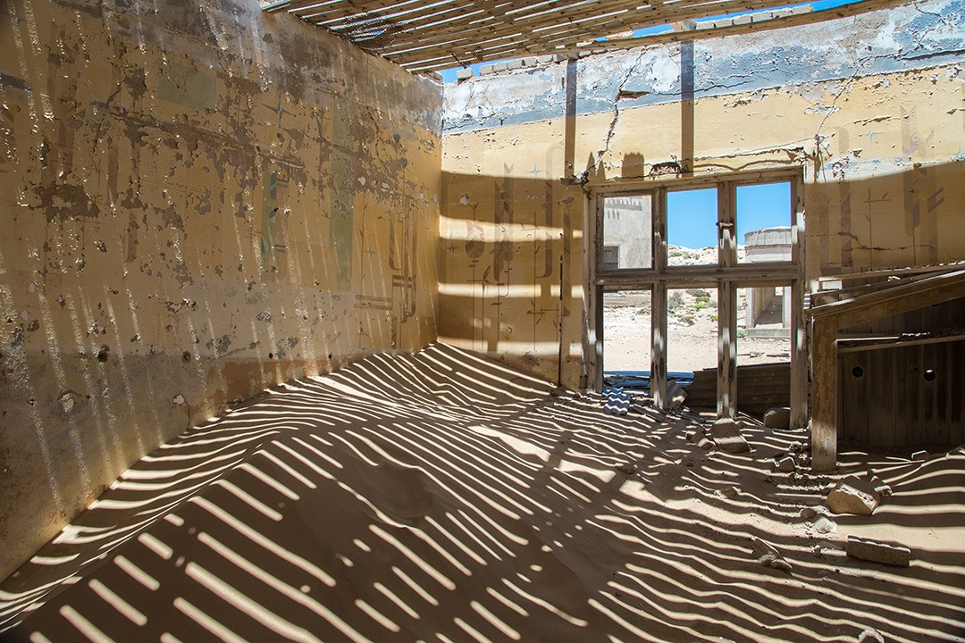 The ghost town of Kolmanskop was once rich in diamonds