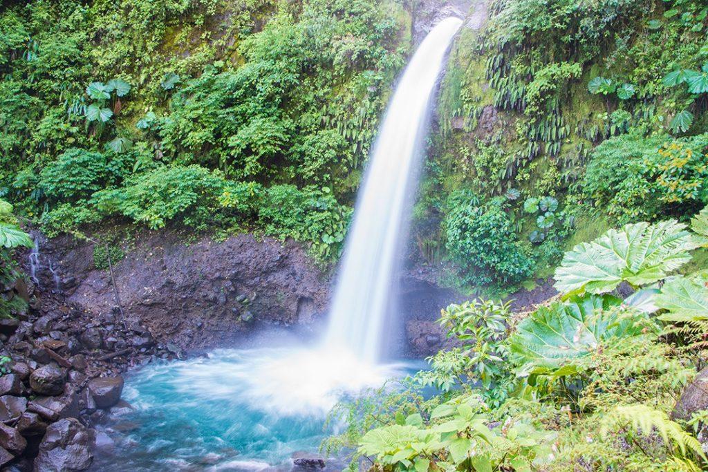 La Paz waterfall in Costa Rica