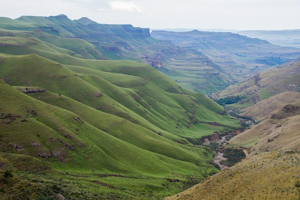 View of Lesotho from Sani Pass