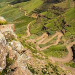Driving the hairpinned Sani Pass to Lesotho