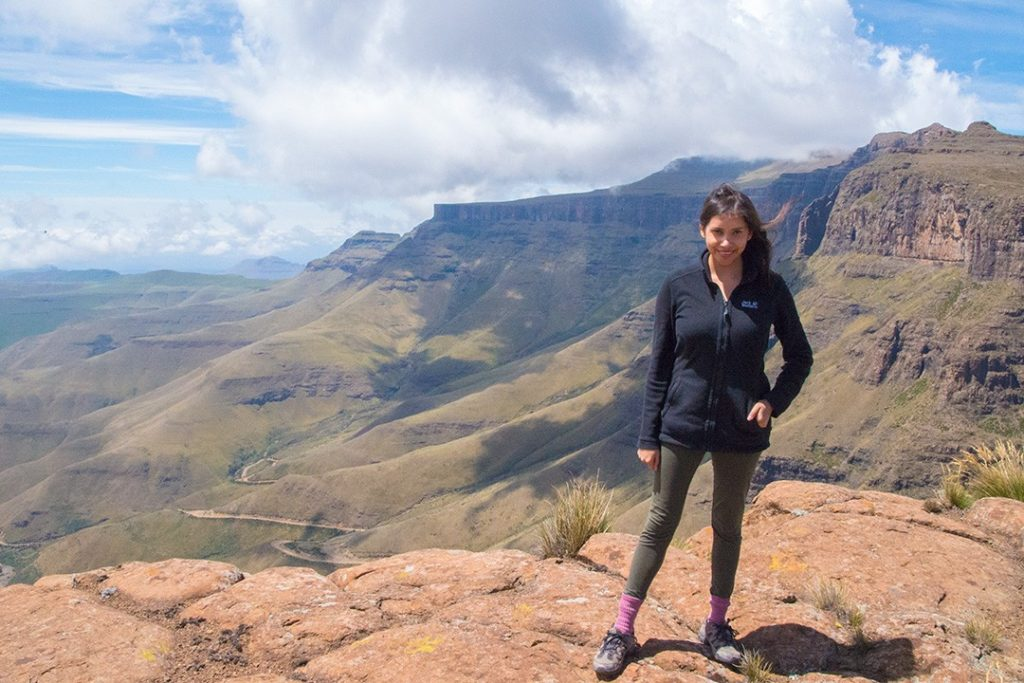 On a hike in Lesotho