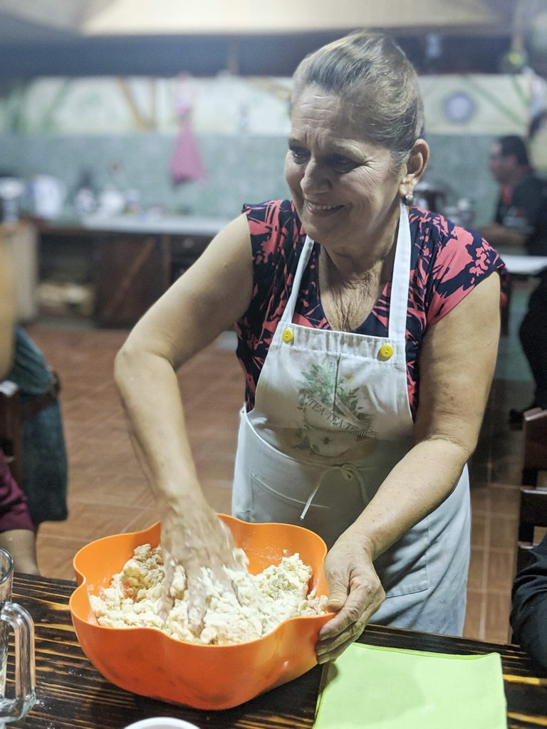 Dona Mara cooking on our National Geographic Expedition to Costa Rica