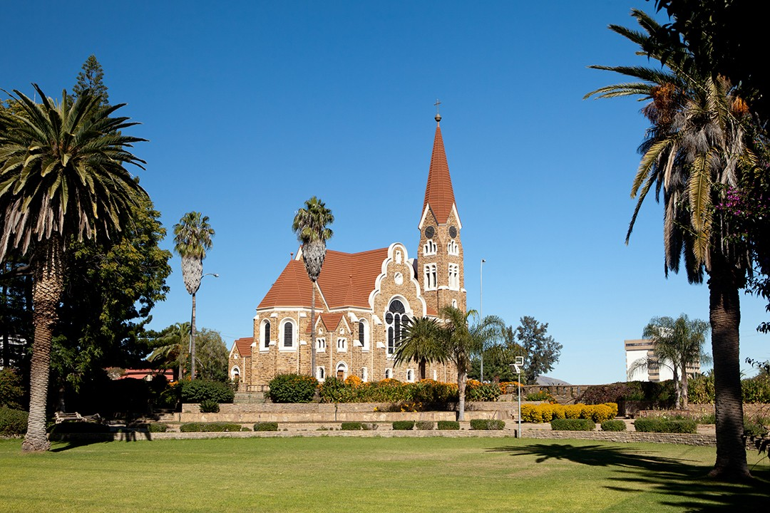 self-drive safari through Namibia christuskirche windhoek