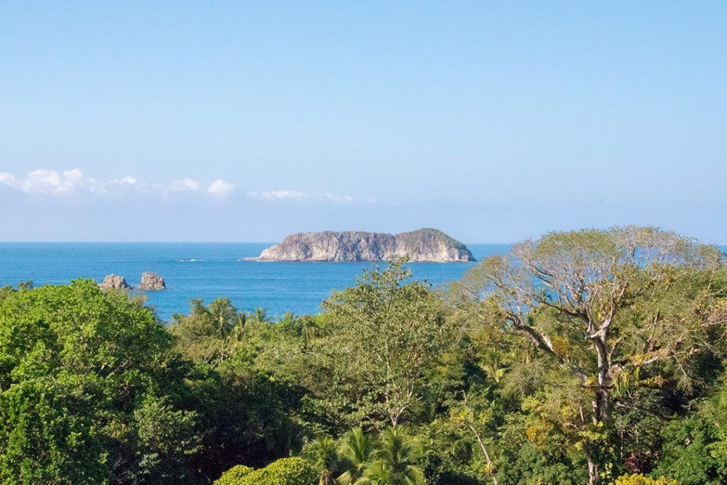 The view from the beach in Manuel Antonio National Park