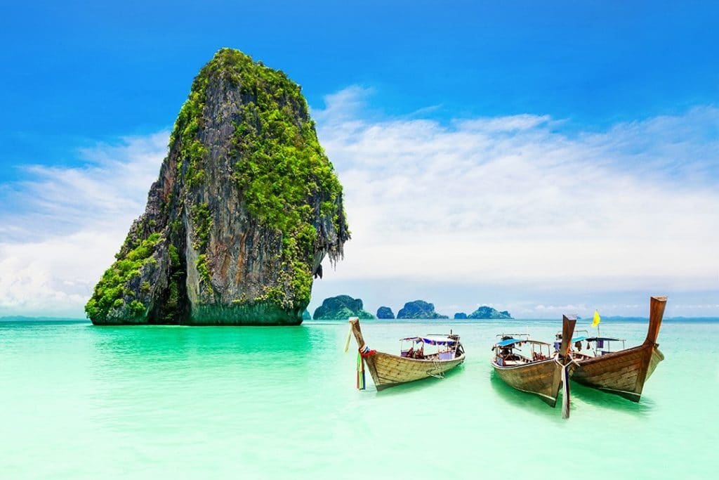 An idyllic scene in Thailand, one of the most visited countries in the world