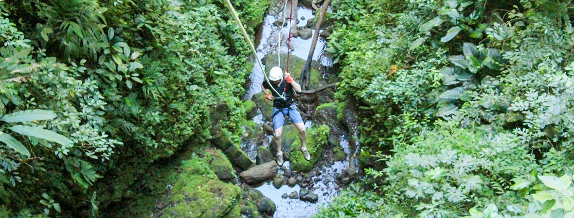 canyoning in la fortuna costa rica featured image
