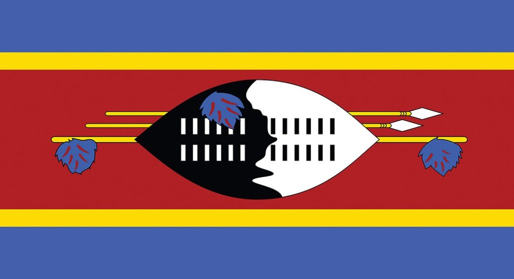 The Eswatini Swaziland flag