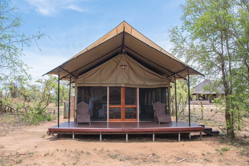 Our safari tent in Manyeleti Game Reserve