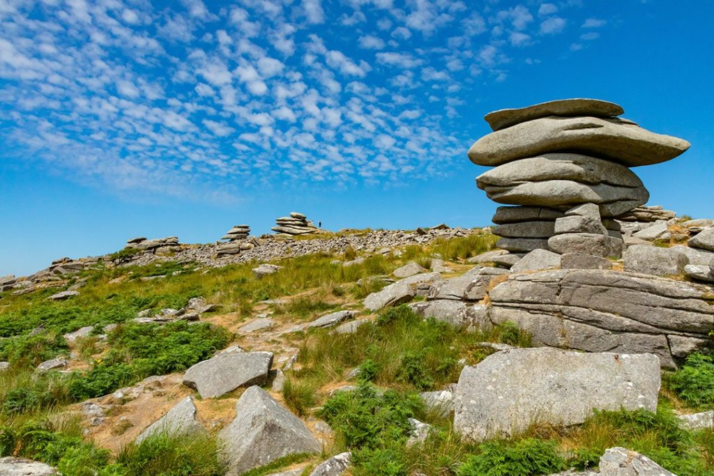 The Cheeswring on Bodmin Moor is an interesting sight in Cornwall