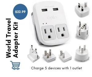 all in one travel adaptor image