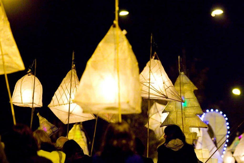 St Ives' lantern parade