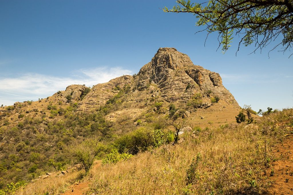 The picturesque hills around Mlilwane