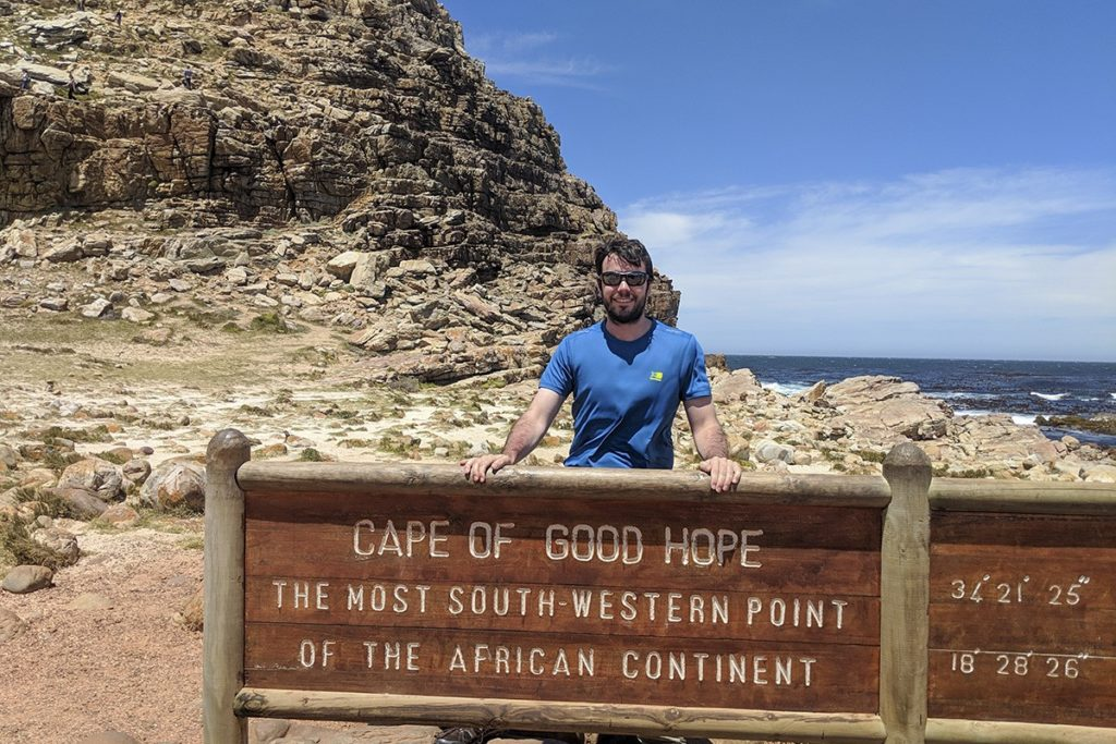 Peter Cape of Good Hope sign near Cape Point