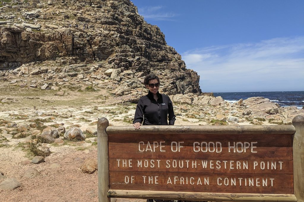 Kia at the Cape of Good Hope near Cape Point