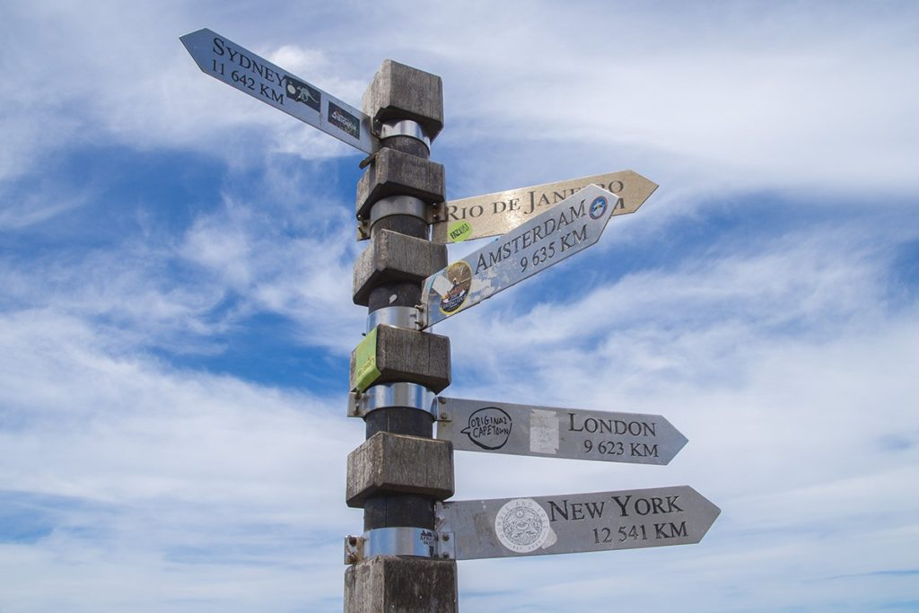 The signs at Cape Point