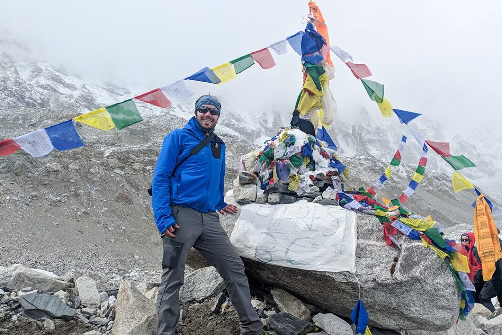 Everest base camp kit list – Peter at base camp