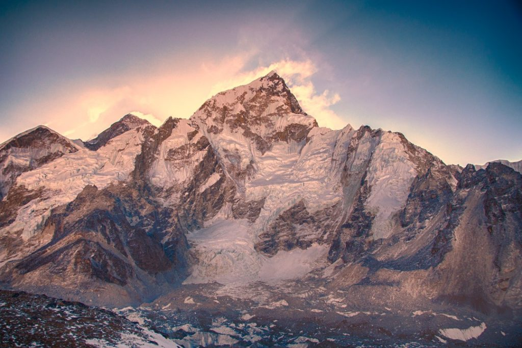 Sunrise over the Everest Massif during the Everest base camp trek