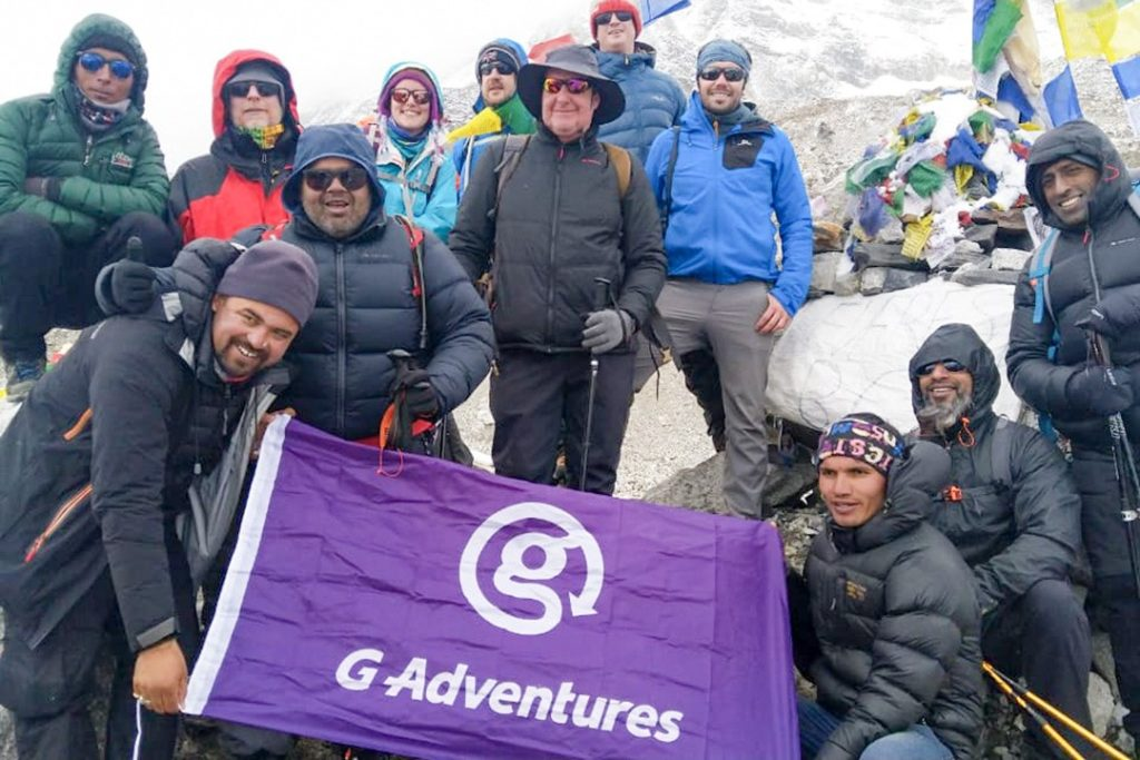 Our team at Everest base camp