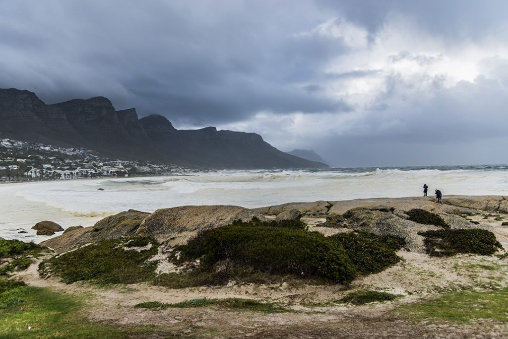 table mountain in the cold