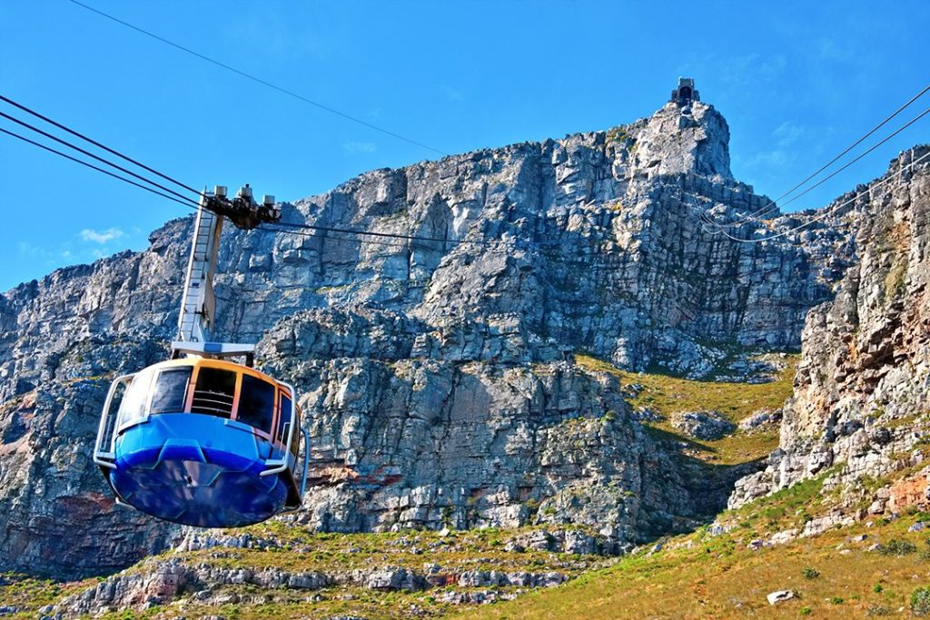 You can choose to take the cableway in one direction when hiking table mountain