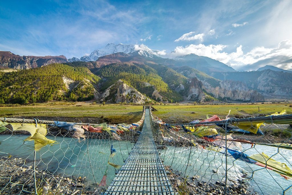 Best treks in Nepal – Annapurna Circuit bridge