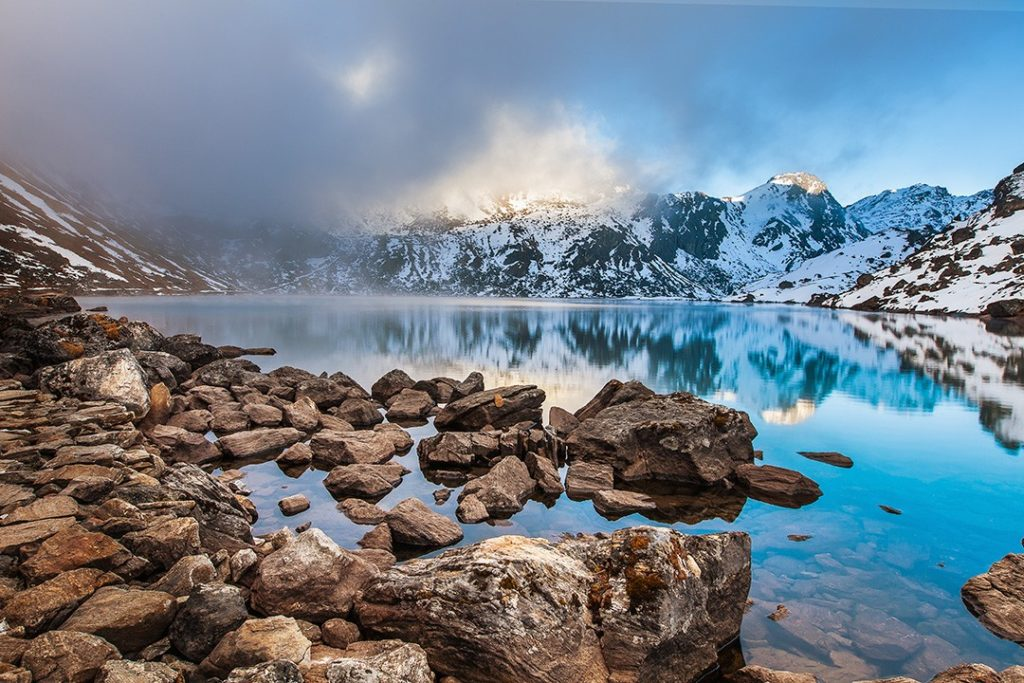 Gosainkunda Lake on the Langtang Trek