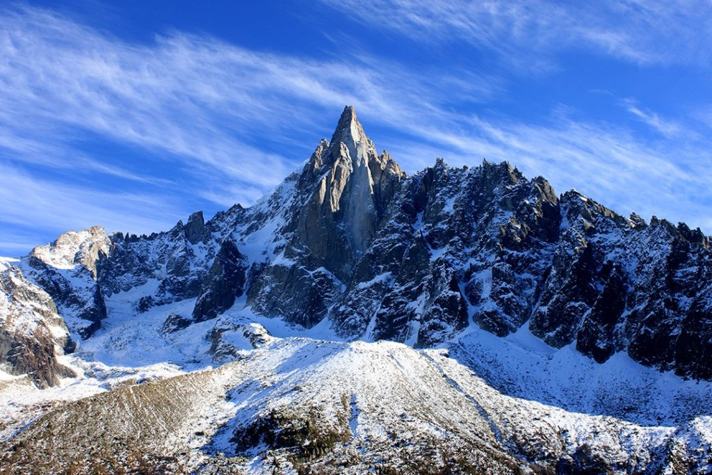 Fittingly, 'aiguille' translates as 'needle' - one of the most beautiful mountains in the world