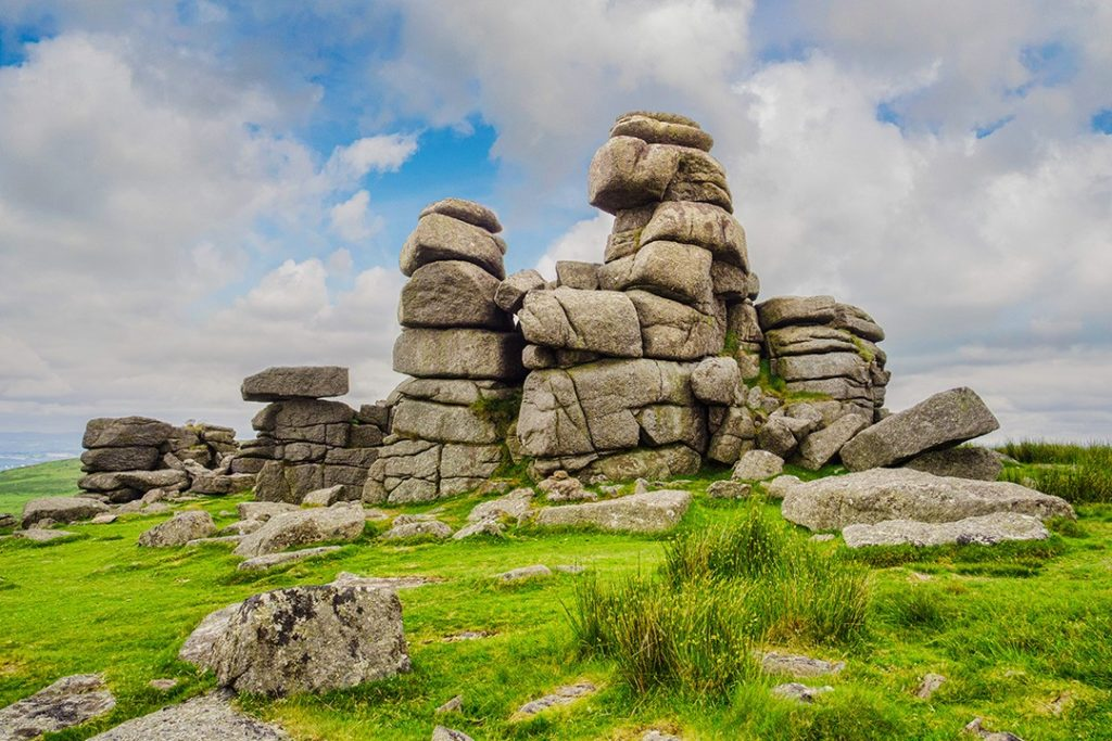 Great Staple Tor and its rock towers one of the best hikes in Dartmoor National Park