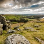 The view from the summit of Sheeps Tor best hikes in Dartmoor National Park
