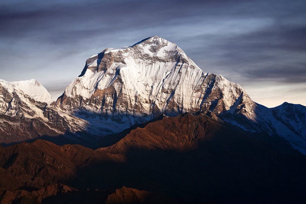 Dhaulagiri is one of the lesser climbed eight-thousanders