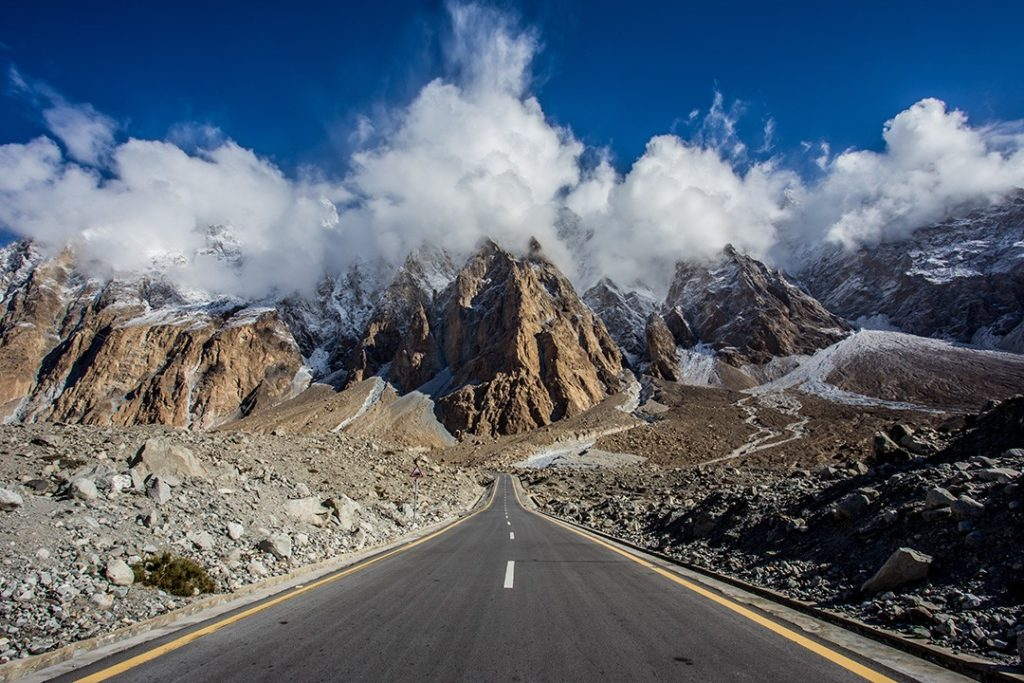 The Karakoram Highway is one of the highest paved roads in the world
